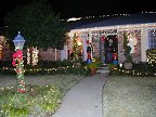 Mike and Chris's house was decorated to the hilt